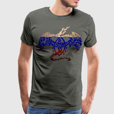 RUSSIA FLAG DRAGON BACK - Men's Premium T-Shirt