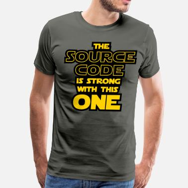 Binary Numeral System THE SOURCE CODE IS STRONG WITH THIS ONE - Men's Premium T-Shirt