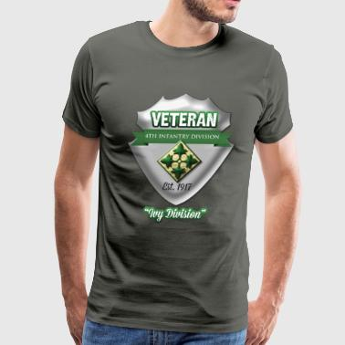 Veteran: 4th Infantry Division - Men's Premium T-Shirt