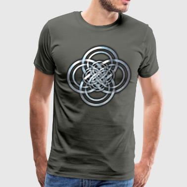 Celtic Cross Knotwork - Men's Premium T-Shirt