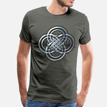 Celtic Knotwork Celtic Cross Knotwork - Men's Premium T-Shirt