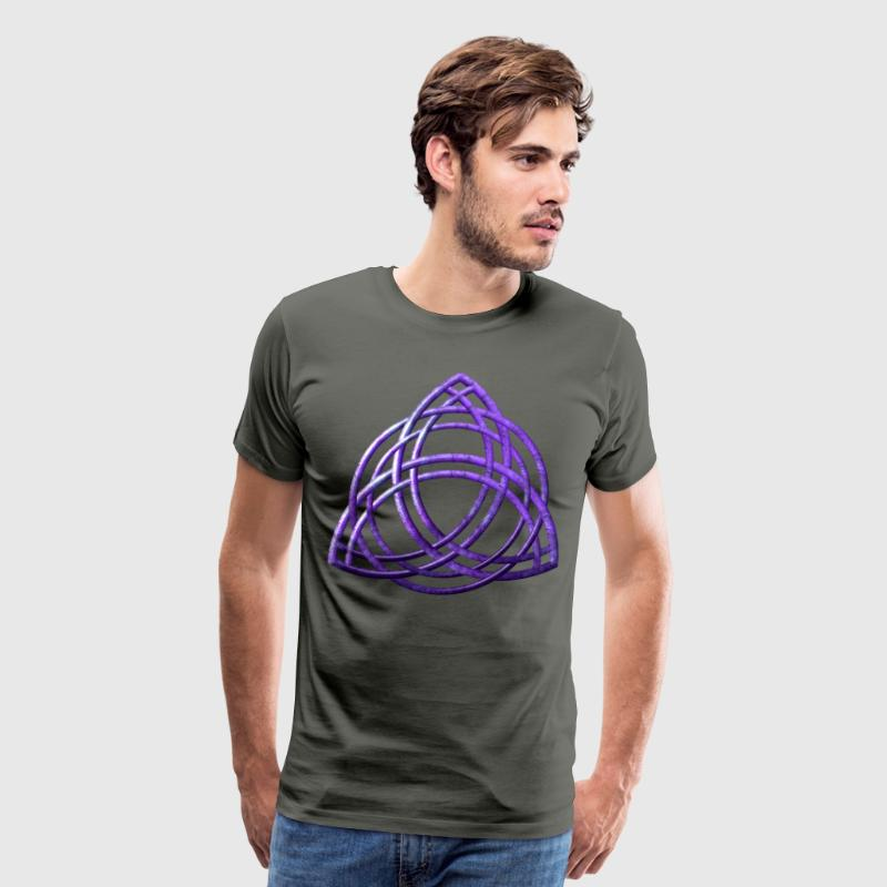 Celtic Triquetra - Purple - Men's Premium T-Shirt