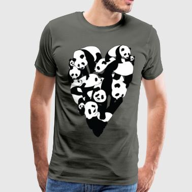 Panda Heart - Men's Premium T-Shirt