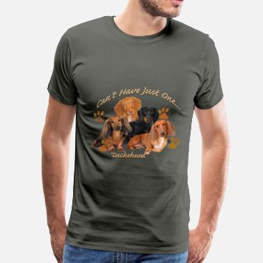 Dachshund Can't Have Just - Men's Premium T-Shirt