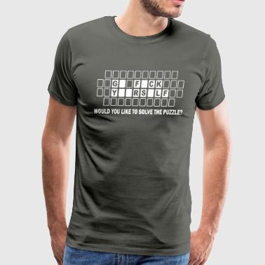 Would You Like To Solve The Puzzle - Men's Premium T-Shirt