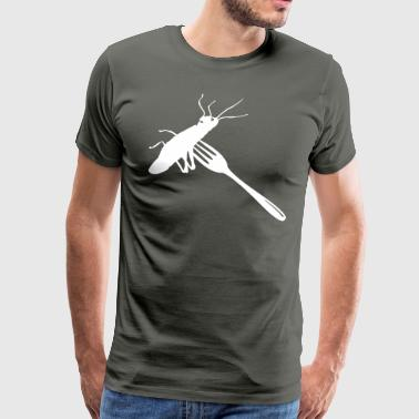Grasshopper on fork - Men's Premium T-Shirt