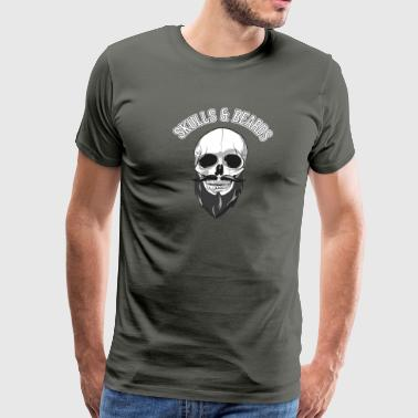 skulls beards - Men's Premium T-Shirt