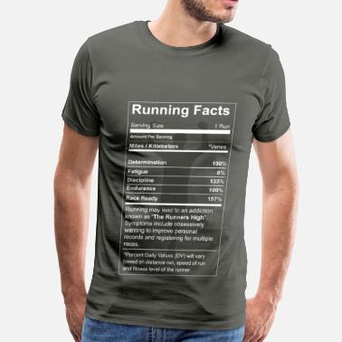 Cross Country Running Running - All running facts awesome t-shirt - Men's Premium T-Shirt