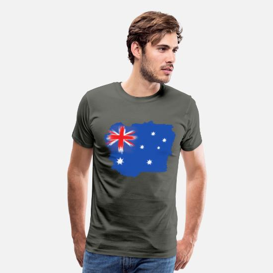 National T-Shirts - Australia Flag Sydney - Men's Premium T-Shirt asphalt