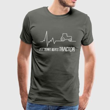 my heart beats tractor - Men's Premium T-Shirt
