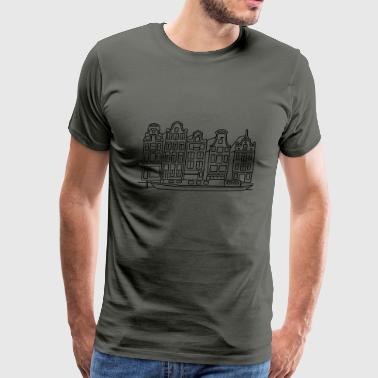 Canal Amsterdam Canal houses - Men's Premium T-Shirt