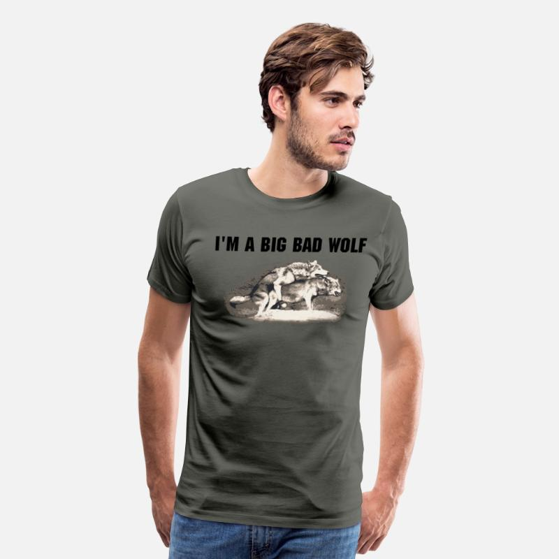 Not Politically Correct T-Shirts - Wolves Wolf - Men's Premium T-Shirt asphalt