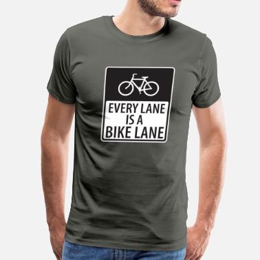 Lanes Every Lane is a Bike Lane - Men's Premium T-Shirt