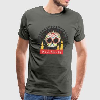 Sugar Skull - Day of the Dead #01 - Men's Premium T-Shirt