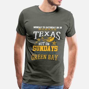 Green Bay Wi Green Bay – On Sundays my heart is in Green Bay - Men's Premium T-Shirt