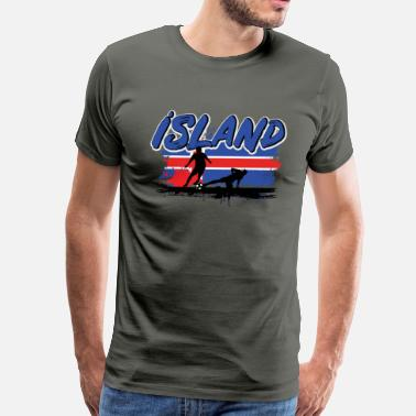 Iceland Soccer Iceland Soccer Iceland Soccer for Fans of Iceland Football - Men's Premium T-Shirt