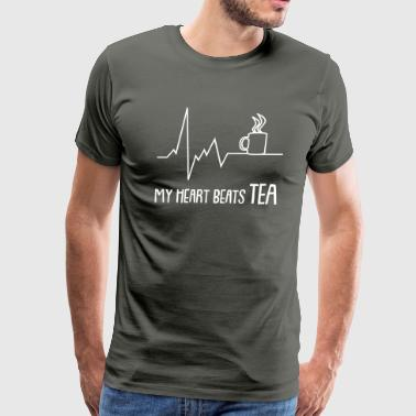 my heart beats tea - Men's Premium T-Shirt