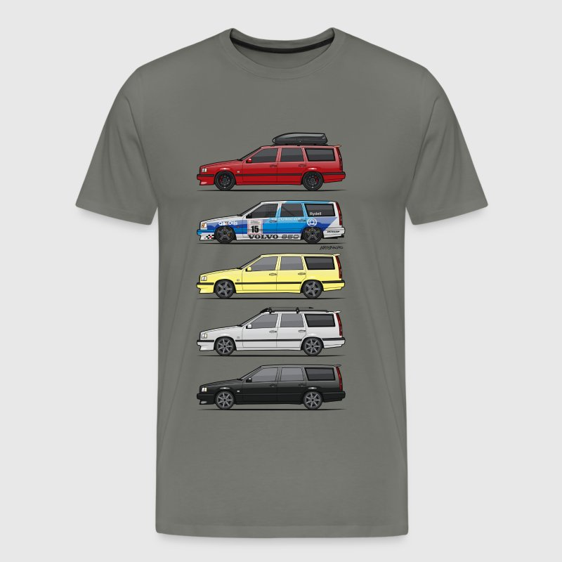 Stack of  Volvo 850R T5 Wagons - Men's Premium T-Shirt