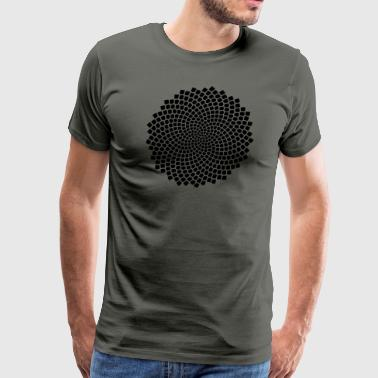 Golden Ratio Sunflower Seed, Fibonacci Spiral, Phi, Mathematics - Men's Premium T-Shirt