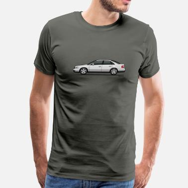 B5 A4 Audi A4 Quattro B5 Sedan (White) - Men's Premium T-Shirt