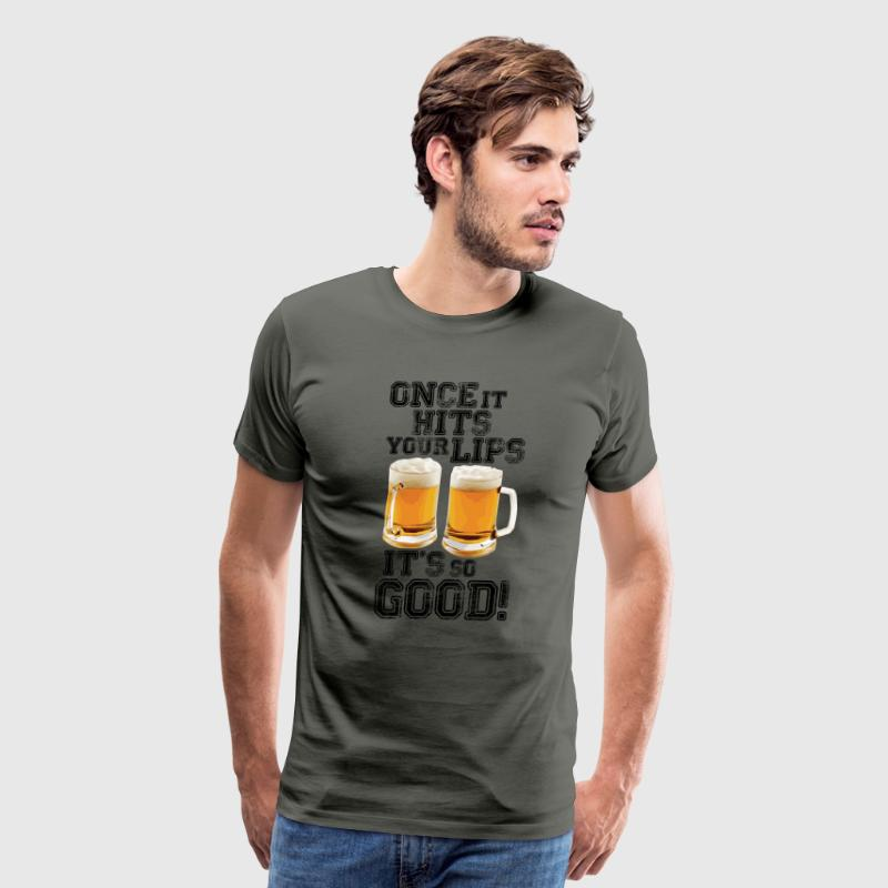 Once it hits your lips, it's so good! (OLD SCHOOL) - Men's Premium T-Shirt
