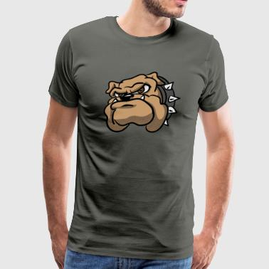 Bulldogs Draw Bulldog Cartoon - Men's Premium T-Shirt
