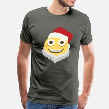 Moji Beardy Christmas Moji - Men's Premium T-Shirt