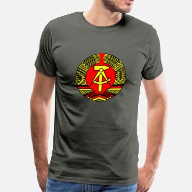 Ddr East Germany Crest Ddr Eass Germany - Men's Premium T-Shirt