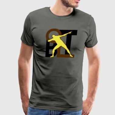 Bolt Pose Triumph Pose - Men's Premium T-Shirt