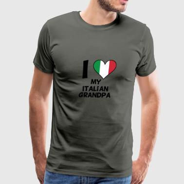 I Heart My Italian Grandpa - Men's Premium T-Shirt