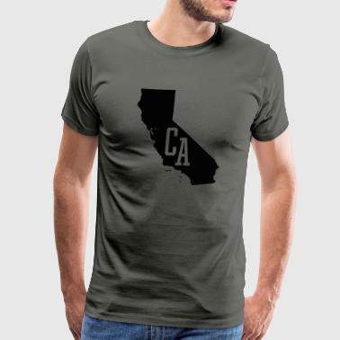 California State Map CA - Men's Premium T-Shirt