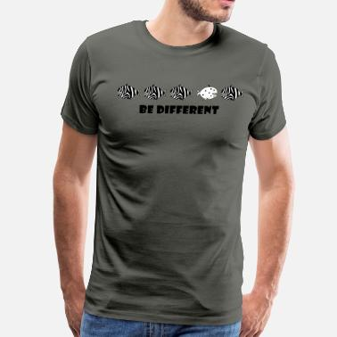 be different  zebra fish - Men's Premium T-Shirt