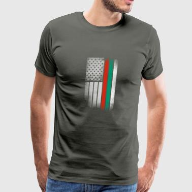Bulgarian American Flag - Men's Premium T-Shirt