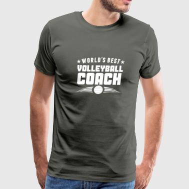 World's Best Volleyball Coach - Men's Premium T-Shirt