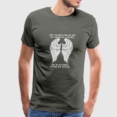 My husband is my guardian angel - Men's Premium T-Shirt