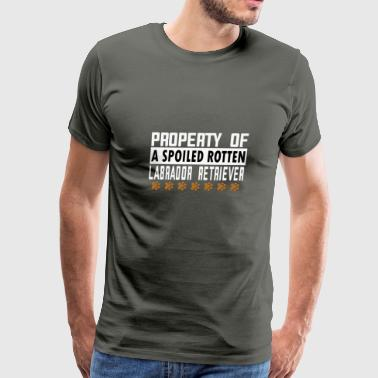 Property of a Spoiled Rotten Labrador Retriever - Men's Premium T-Shirt