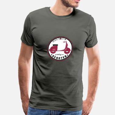 scooter natural born_vec_3 en - Men's Premium T-Shirt