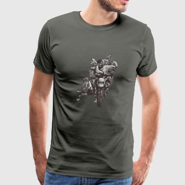 Hogs Of The Road Meerly Road Hogs - Men's Premium T-Shirt