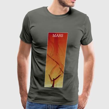 Mars - Fissure and Channel: Red - Men's Premium T-Shirt