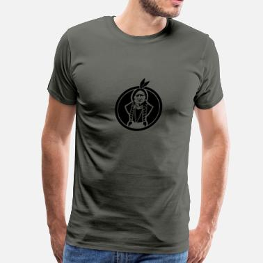 Sitting Sitting Bull US Native - Men's Premium T-Shirt