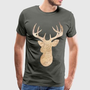 Modern deer head - Men's Premium T-Shirt