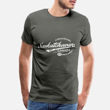 Skies Saskatchewan - Men's Premium T-Shirt