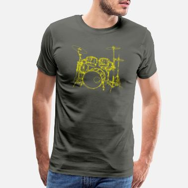 Drumsticks drums outline - Men's Premium T-Shirt