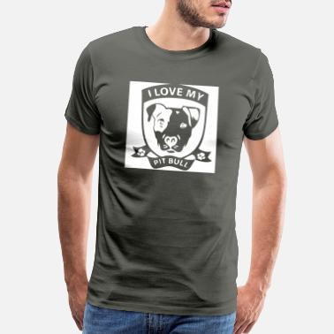 Bullterrier I Love Pitbulls Bulldogs - Men's Premium T-Shirt