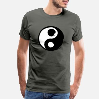 Taoism Yin Yang opposites attract each other - Men's Premium T-Shirt