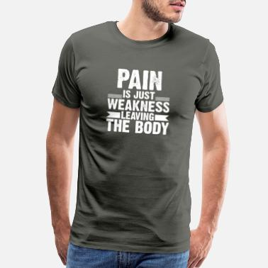 Know Your Meme Weakness leaving the Body - Men's Premium T-Shirt