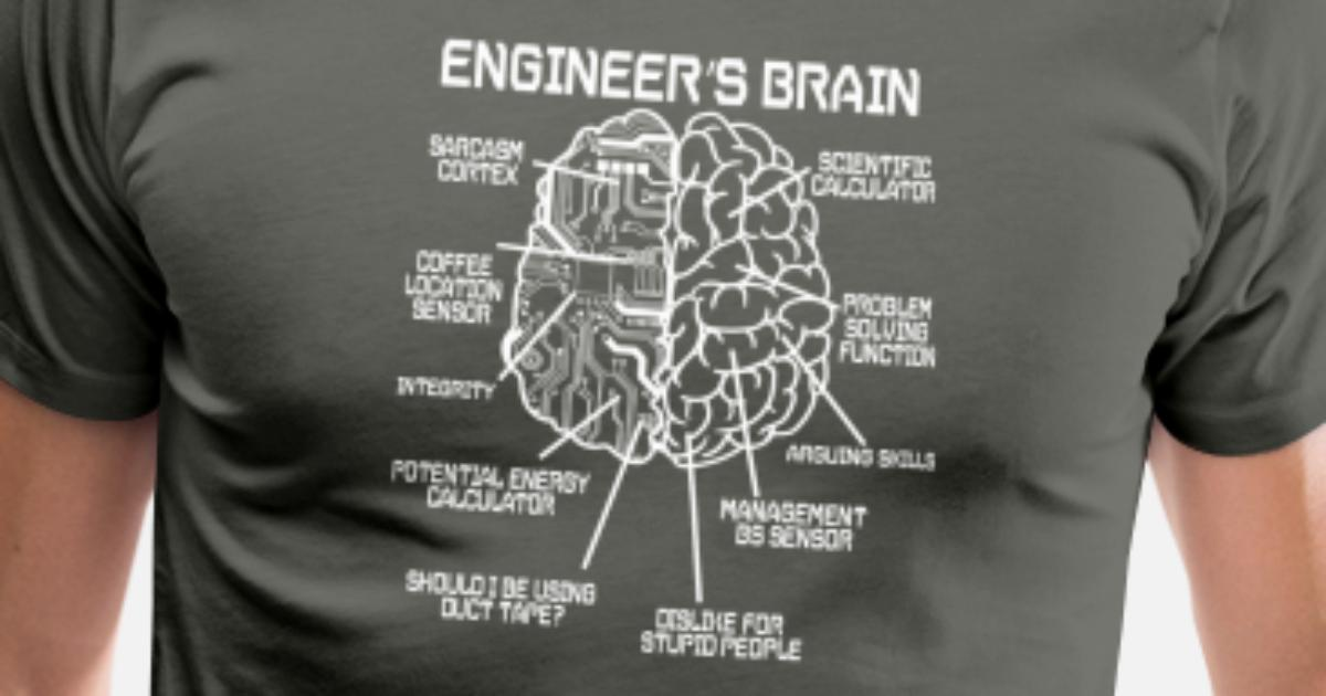 67c8778a3e engineer brain engineers study gift Men s Premium T-Shirt