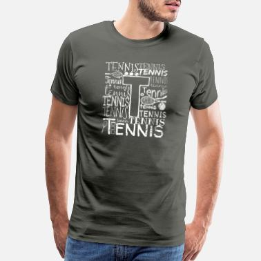 Victorious Tennis Ball Typography Sport Racket Gift - Men's Premium T-Shirt