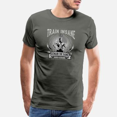 6402a846b2884 No Pain No Gain Train Insane - Men s Premium T-Shirt