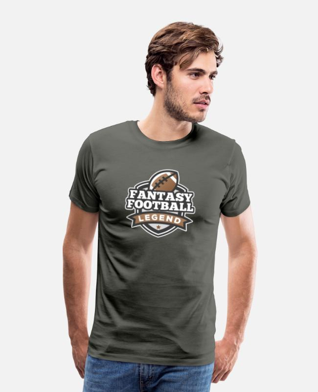 Deity T-Shirts - I'm a Fantasy Legend Funny Fantasy Football Gifts - Men's Premium T-Shirt asphalt gray